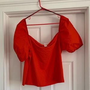 H&M tomato red top xxl